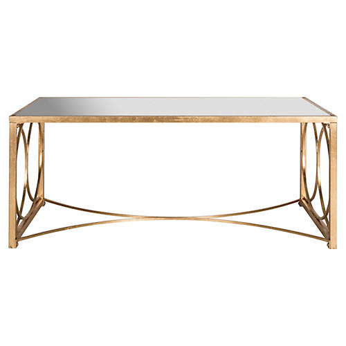 Mia Mirrored Coffee Table, Gold