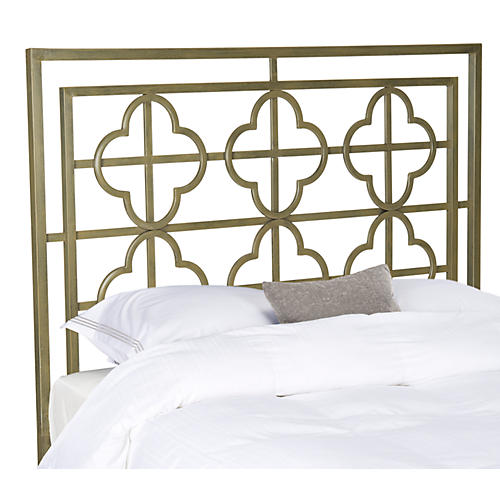 Hannah Headboard, Antiqued Gold
