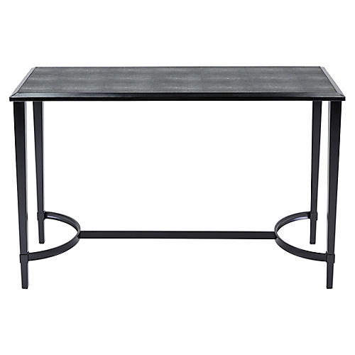 "Madison 48"" Console, Black Shagreen"