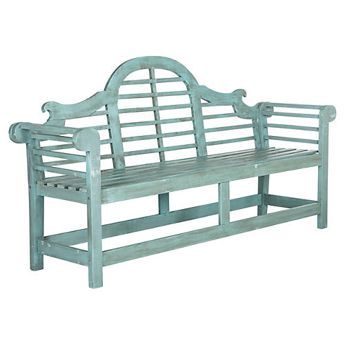 Outdoor Kayla Bench, Teal