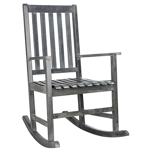 Outdoor Maris Rocking Chair, Gray