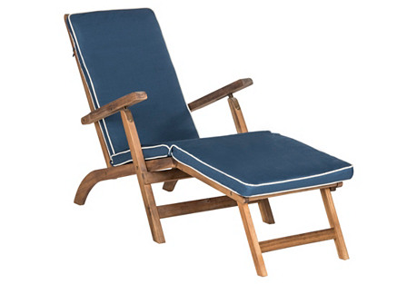 Outdoor Ernest Lounge Chair, Blue