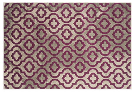 Maxime Rug, Light Gray/Purple