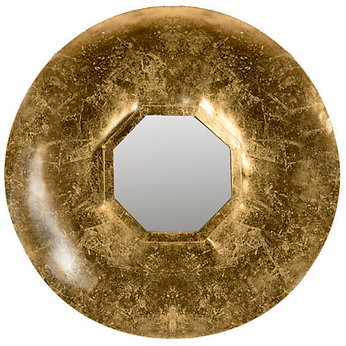 Sandrine Wall Mirror, Antiqued Gold