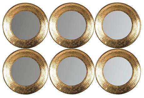 Jasper Wall Mirror, Gold
