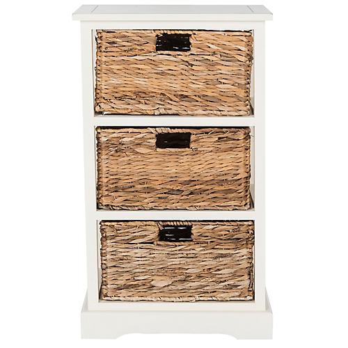 Wren Storage Unit, White