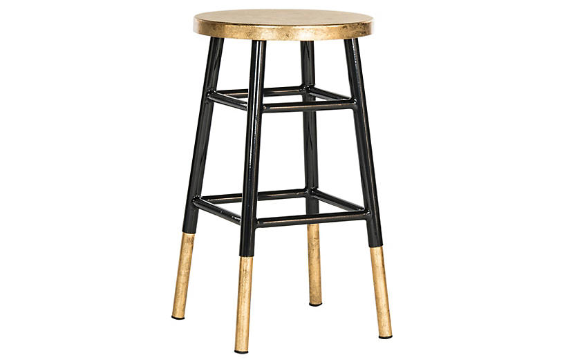 Lacie Counter Stool - Black/Gold