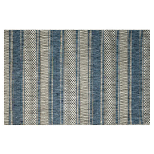 Andu Outdoor Rug, Gray/Navy