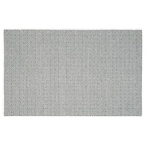 Dusan Flat-Weave Rug, Dark Gray/Ivory
