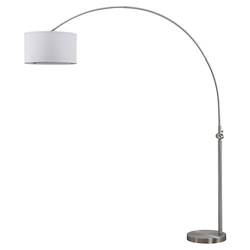 Amari Arc Floor Lamp, Nickel