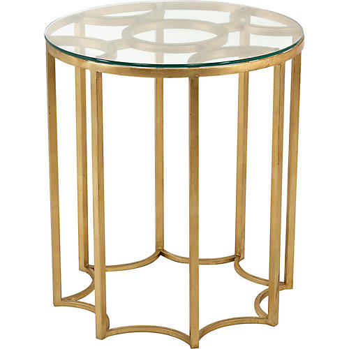 Horace Round Side Table, Gold