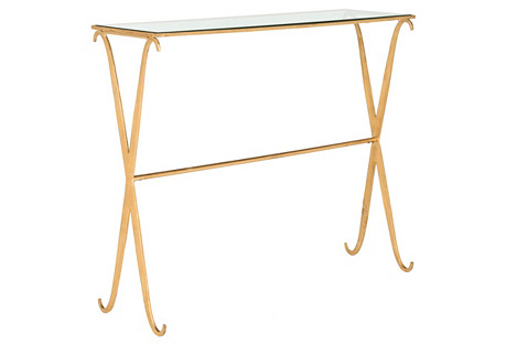 Surrey Glass Console, Gold