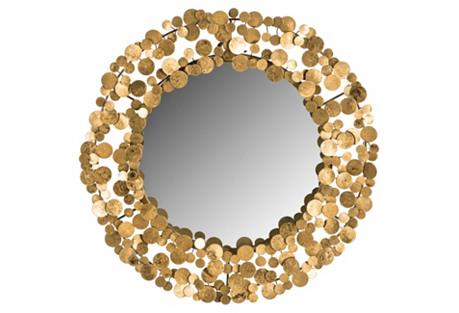Jocelyn Wall Mirror, Gold