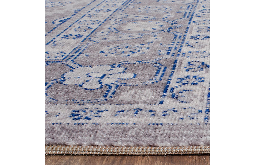 De Beque Jute Blend Rug Gray Blue Natural Fiber Rugs