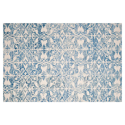 Johnstown Rug, Dark Blue/Ivory