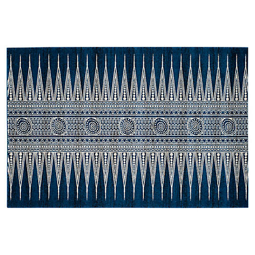 Genoa Rug, Royal/Ivory