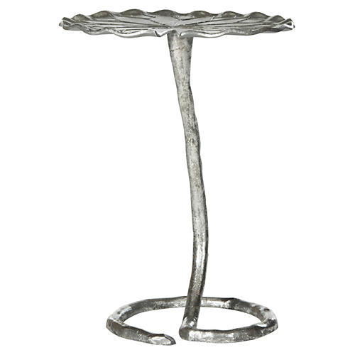 Justina Side Table, Silver