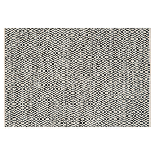 Milligan Rug, Ivory/Dark Gray