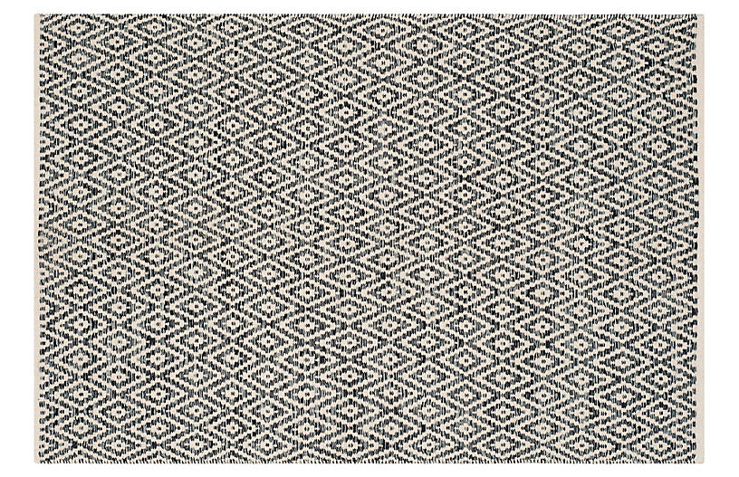 Milligan Rug, Ivory/Dark Gray