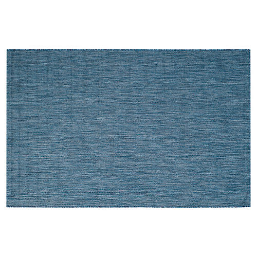 Alessa Outdoor Rug, Navy