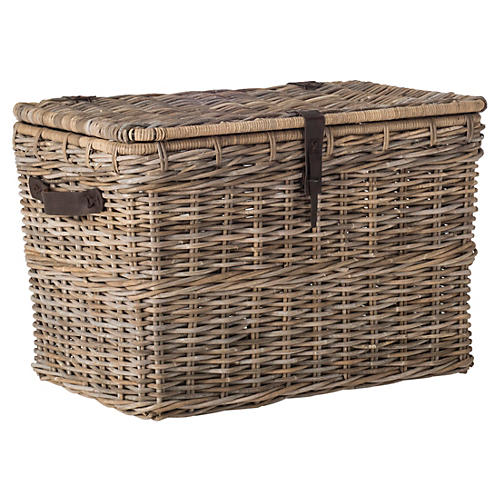 Layla Wicker Trunk, Natural