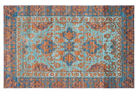 Matisse Rug, Blue/Gold