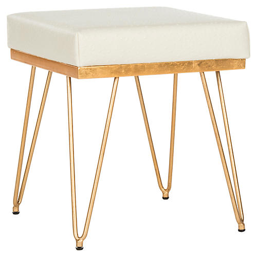Oslo Square Stool, White