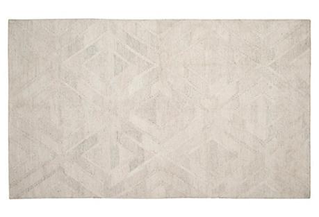 Cassia Kilim, Light Gray/Ivory