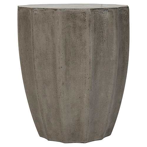 Jaslyn Side Table, Concrete