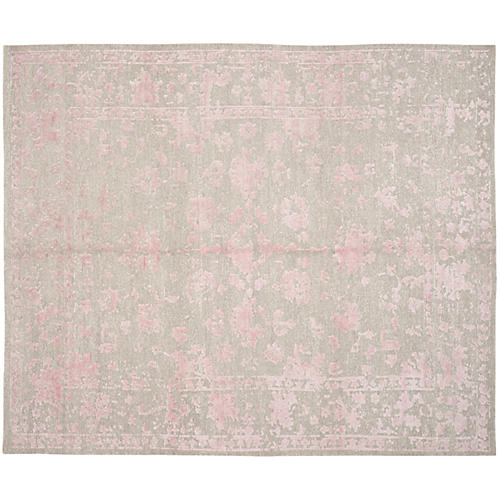 Colton Rug, Silver/Rose