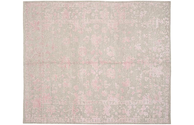Colton Rug, Silver/Rose