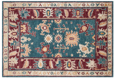 Arlo Hand-Knotted Rug, Blue/Red