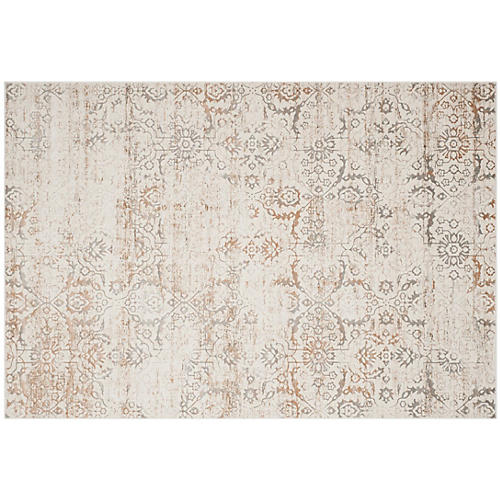 Selina Rug, Gray/Cream