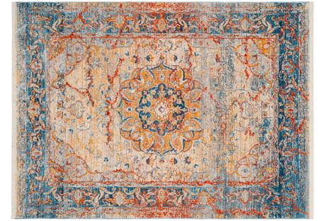 6'x9' Markus Rug, Blue/Multi