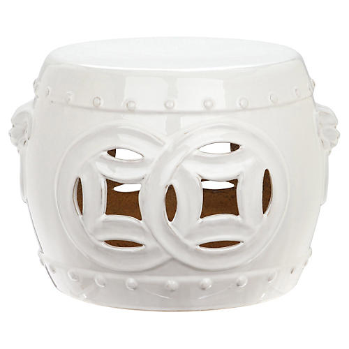 Mary Garden Stool, Off-White