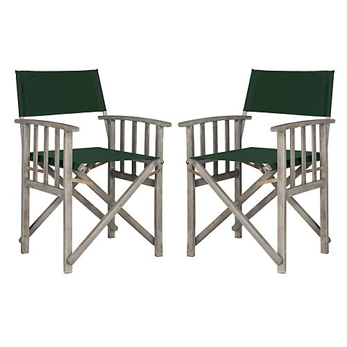 Exito Outdoor Director Chairs, Pair