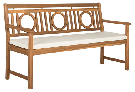Outdoor Priley 3-Seat Bench, Natural