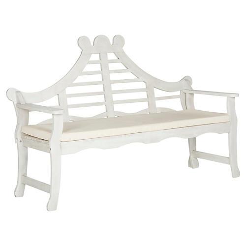 Pagoda Bench, White