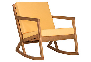Outdoor Lindsey Rocking Chair, Yellow*
