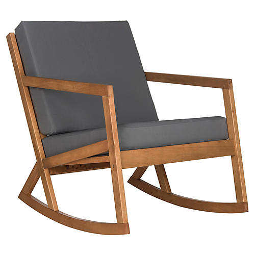 Outdoor Lindsey Rocking Chair, Gray