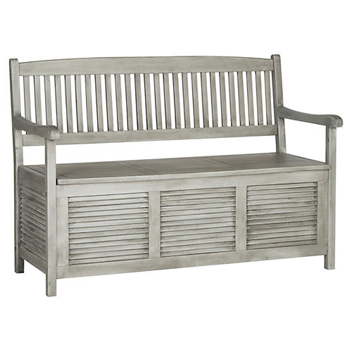 Cacey Outdoor Bench, Gray