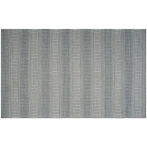 Rachel Flat-Weave Rug, Gray