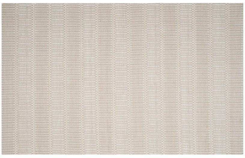 Rachel Flat-Weave Rug, Ivory