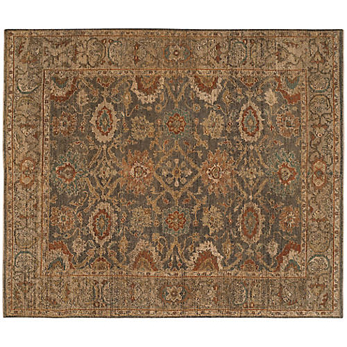 Lana New Zealand Wool Rug, Gold/Multi