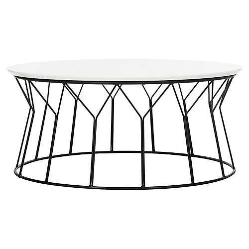 Cicotte Coffee Table, White/Black