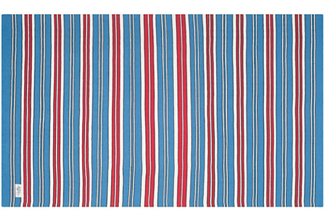 Racing Point Stripe Rug, Blue/Red