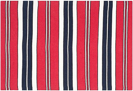 Racing Point Stripe Rug, Racing Red/Navy