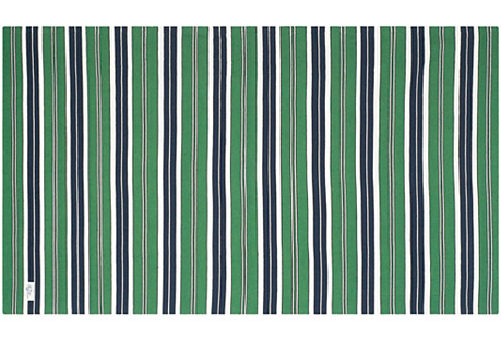 Racing Point Stripe Rug, Green
