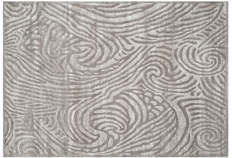 Highclere Rug, Silver Sky