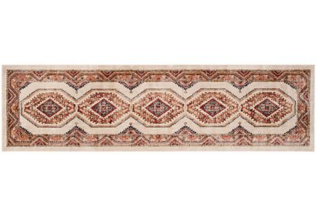 Cedar Rug, Ivory/Rust